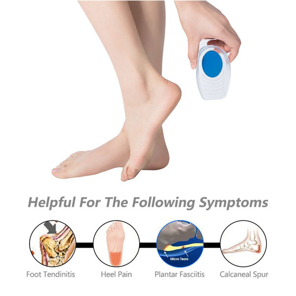Foot Care Comfort Silicone Foot Pad Insole Silicone Gel Heel Cup Cushion Pad ZG-207