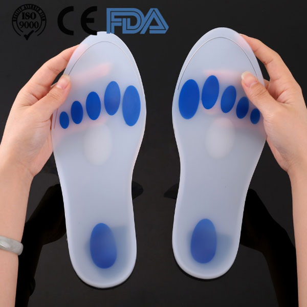 2018 Hot Selling Healthy Care Shock Absorption Plantar Fasciitis Pain Relief Medical Silicone Insole ZG-1885