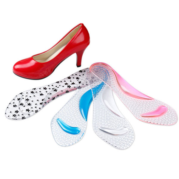 3/4 Adhesive Insoles Transparent Silicone Gel Insoles for Ladies ZG-351