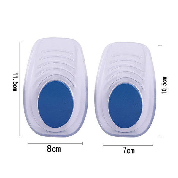 Heel Spur Silicone Gel Heel Lift Height Increasing Insole In Sock ZG-465