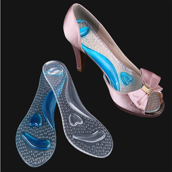 New Foot Care Comfortable Transparent Sticky Pu Gel Insole For High Heel Shoes ZG-353