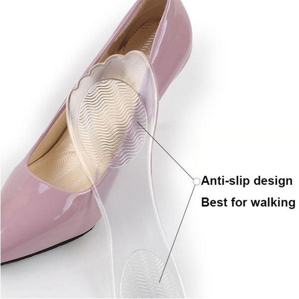 Soft New Lady High Heel 3/4 Gel Fabric Insoles ZG-349