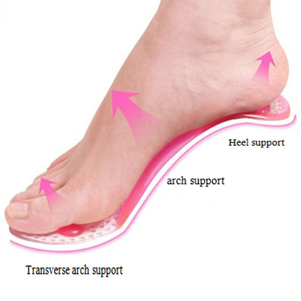 Anti Slip PU Gel Silicon Foot Massage Insole for Women ZG-1881