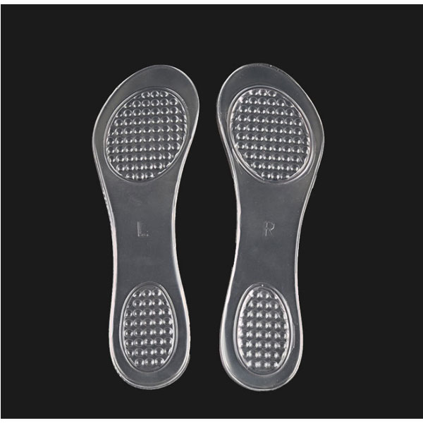 New Arrival Transparent Invisible Self Sticky Shock Absorption Insole For Lady ZG-490