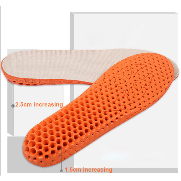 Stylish Step Height Increasing Insoles Anti Sweat Shoe Insoles ZG-343