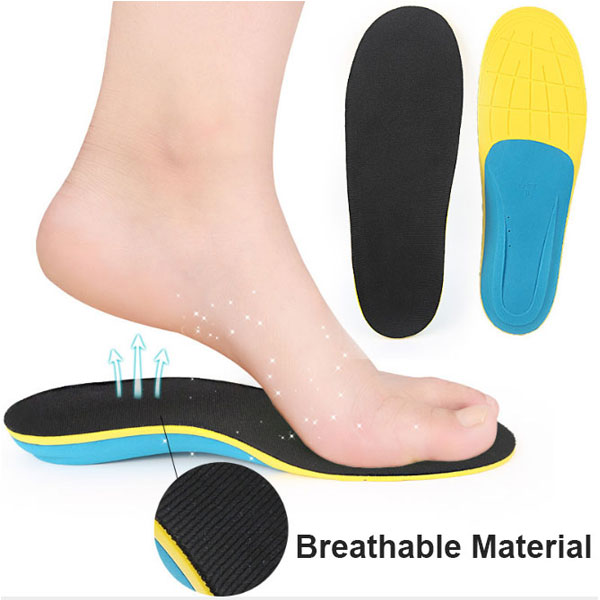 High Elastic Wearable Arch Support Flat Foot Correction Orthotic EVA Insole for Adults ZG-225