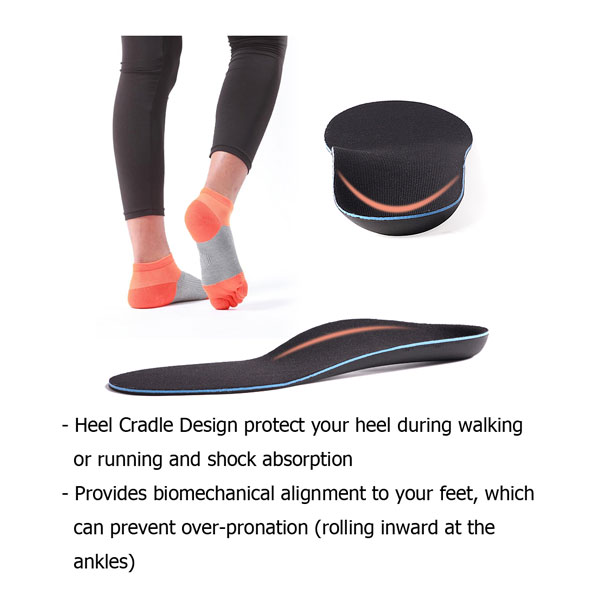 Flat foot Orthotics full length insoles for Adults ZG-1828