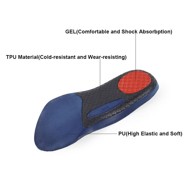 High Quality Arch Support 3/4 Half PU Foam Insole With TPU Arch Insole ZG-325