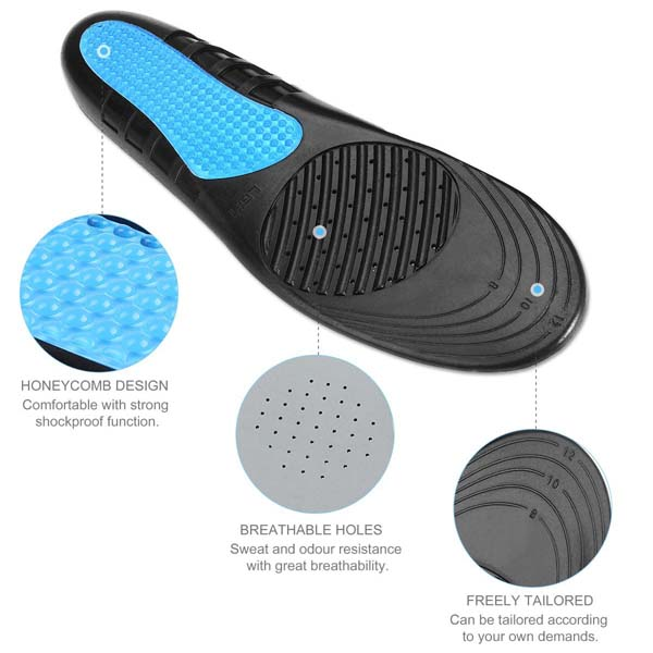 Silicone Pad Arch Support Orthopedic Sport EVA Insole For Adults ZG-204