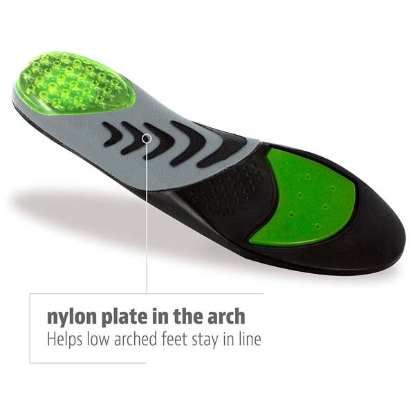 Athletic Orthotic Insoles For Low Arches Flat Feet Performance Shoe Insoles For Men ZG-245