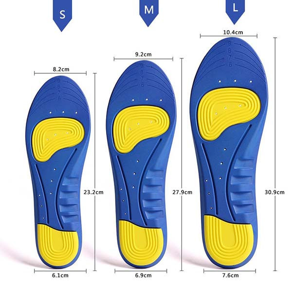 Shock-absorption Breathable Insole Orthotics GEL Sports Comfort Shoes Insole For Women ZG-256