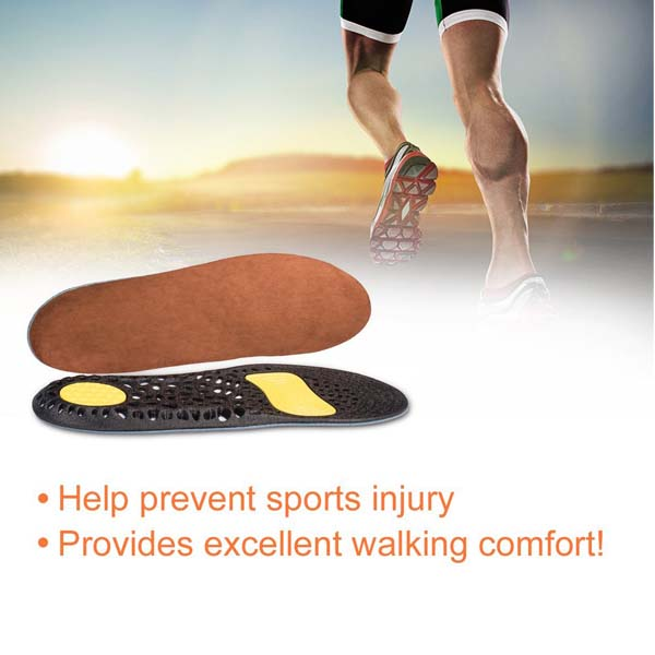 Cooling Gel Insole Honeycomb Gel Sports Absorb Shock Full Length Insoles For Women and Men ZG-232