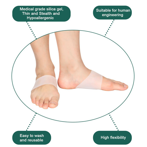 Soft Gel Protector Sleeves for Flat Foot Arch Support Cushion ZG-213