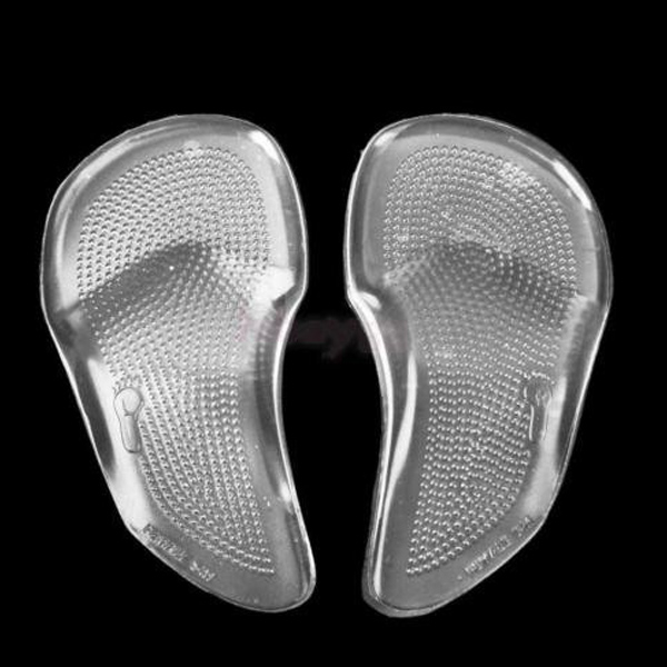 Super Soft High Elastic Transparent Shock Absorption Arch Support 3/4 Gel Forefoot Cushion Pad ZG-214
