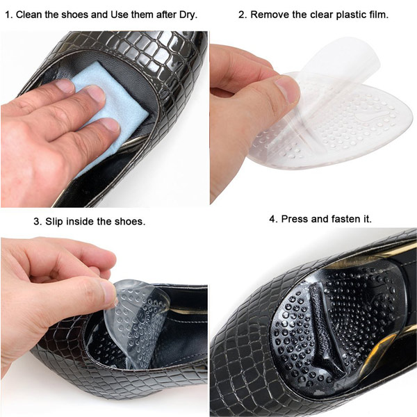 Lady High Heel Shoe Anti Slip Removable Insoles Front Foot Insoles ZG-206