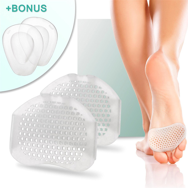 Silicone Soft Gel Reusable Long Lasting Foot Care Pad Breathable Bunion Forefoot Cushioning Pads ZG-244