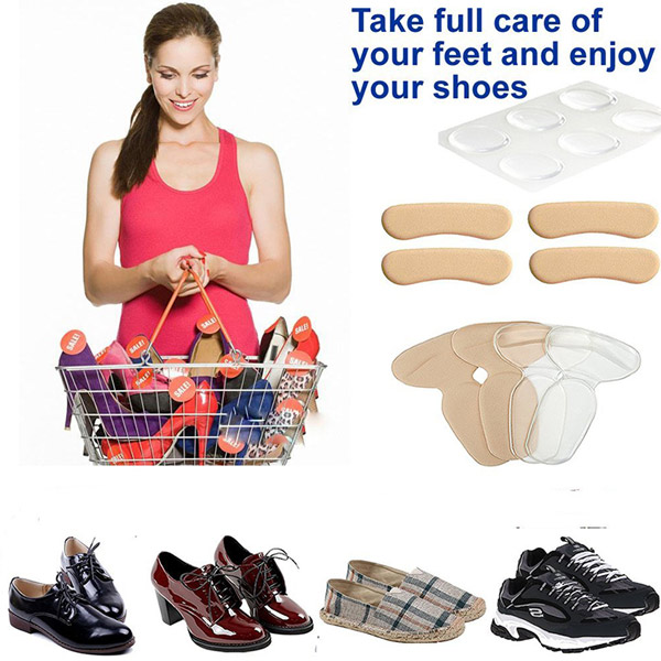 Anti Slip Washable Sticky Gel Heel Cushion Heel Grips Liner For Women ZG-229