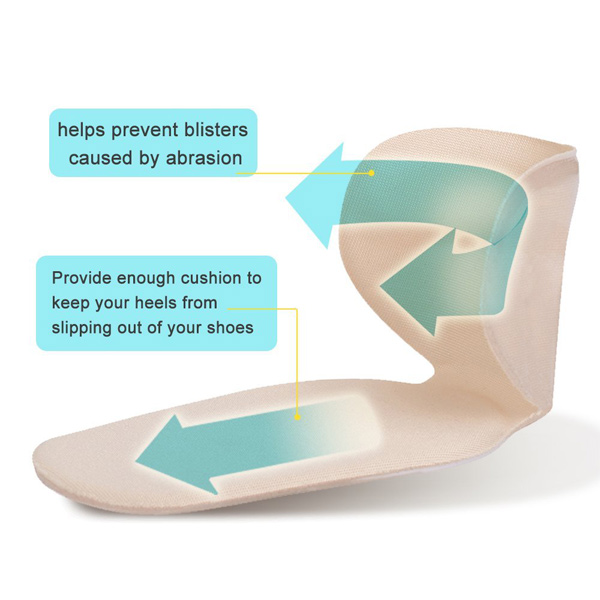 Self Sticky Heel Pain Relief Pads Adhesive Gel Insole ZG-230