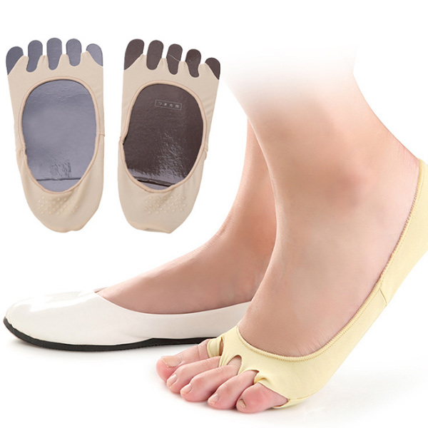 Fashion style Anti slip Lycra textile five toe sock  ZG-400