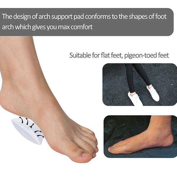 Arch Support Gel Insole for Flat Feet Transparent Adhesive Arch Pad for Women ZG-253