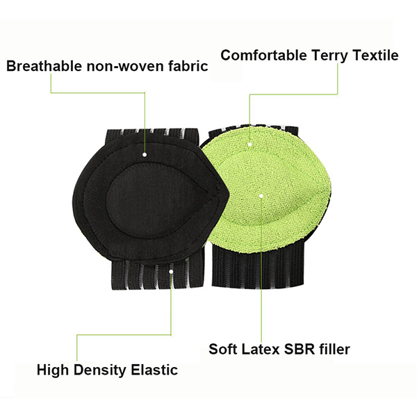 Plantar Fasciitis Feet Heel Pain Relief Insole Foot Arch Support Pad Run up Care Cushioned Shoe Insert ZG-387