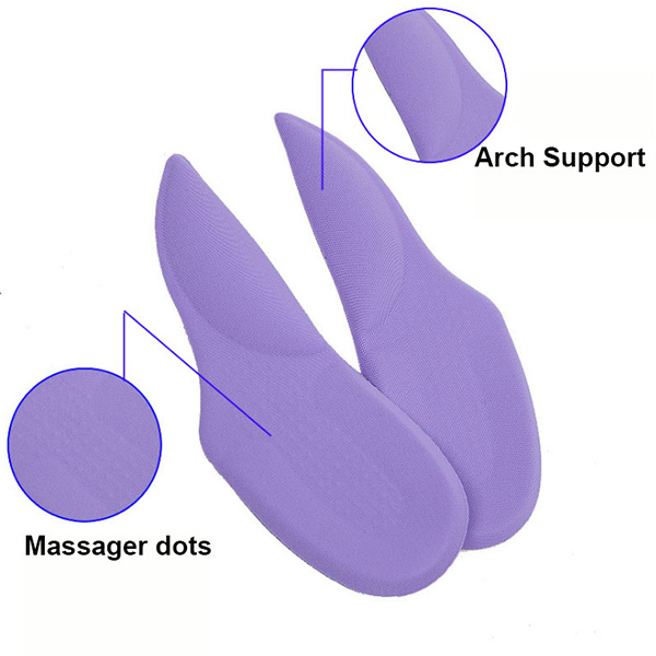 Super Comfort Shock Absorption Silicone Gel Orthopedic Insoles For Women ZG-413