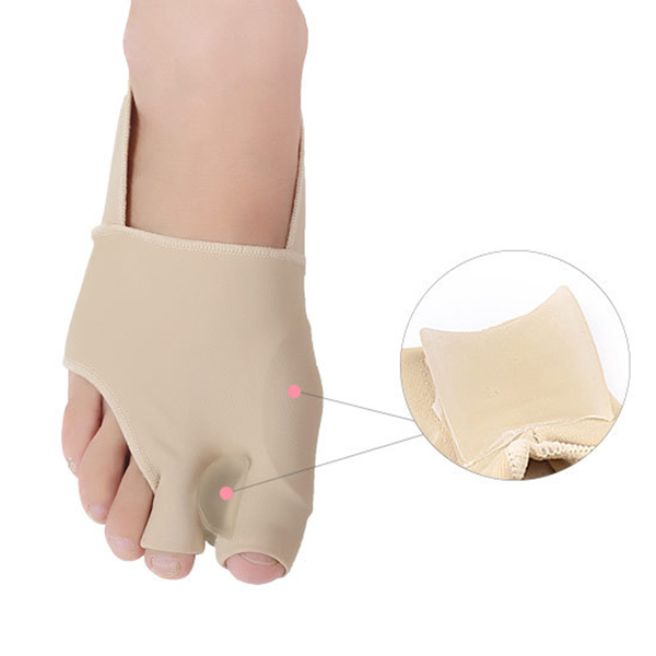 Soft and comfortable Lycra fabric Gel bunion corrector silicon ZG-396