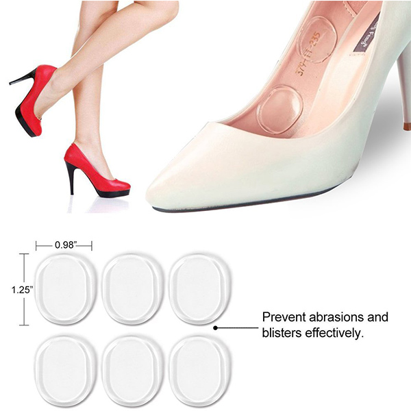 Fast delivery Silicone Gel Heel Cushion High Heel Inserts foot pads for women ZG-271