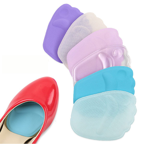 Wholesale reusable foot pain relief  insoles Silicone SEBS foot pads ZG-415