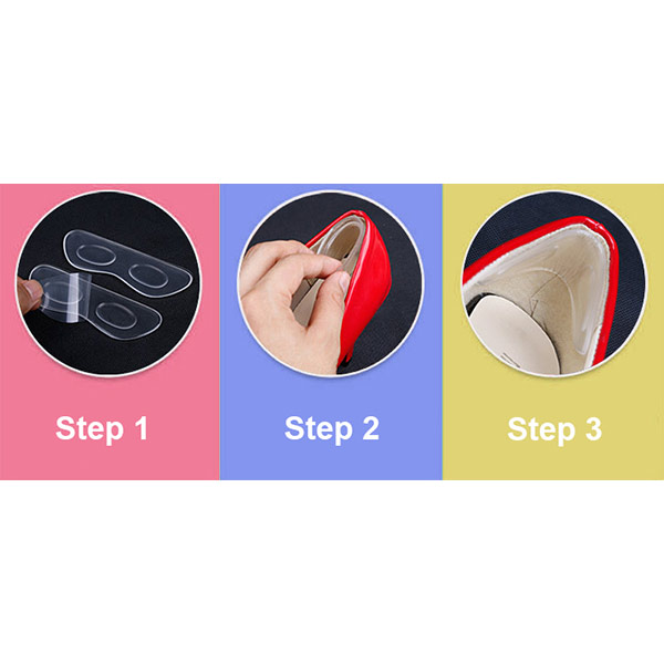 Hot Sale Soft Adhesive Massage Heel Liner Silicone Gel Pad ZG-311