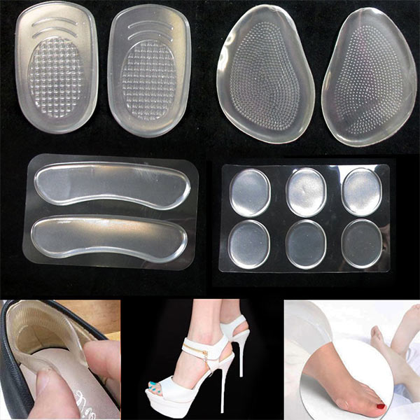Quick delivery Silicone Gel Heel Cushion Foot Care Shoe Pads high heel protector ZG-1821