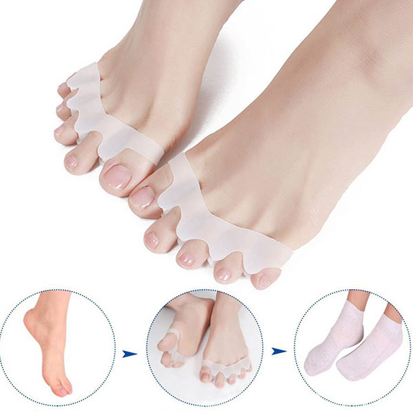 Alibab China Valgus Pro Medicus 2pcs Silicone Toe Spreader Bunion Corrector Separators ZG-290
