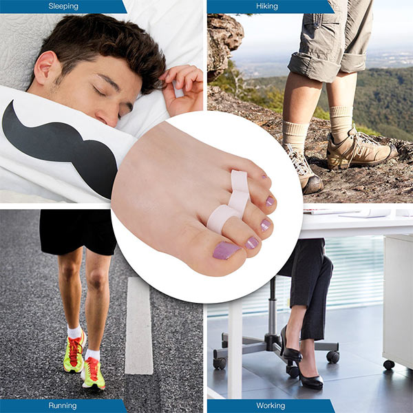 Directly factory Wholesale Silicone Toe Separators gel toe cushions ZG-293