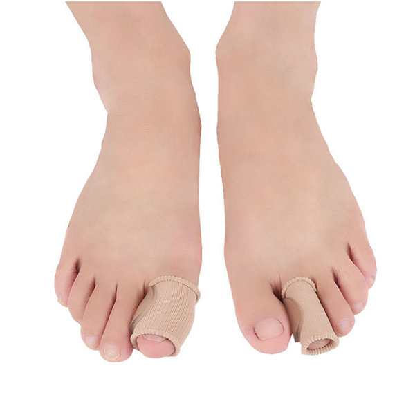 New Arrival Foot Care Fabric Toe Corrector Soft Silicone SEBS Gel Toe Separators ZG-423