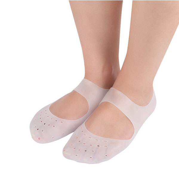 Breathable Anti Crack Whitening Moisture Arch Support Silicone Gel Spa Sock New products  ZG-450