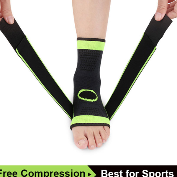 Ankle Stabilizer Support Breathable Ankle Brace For Running Basketball With Compression Straps ZG-S10