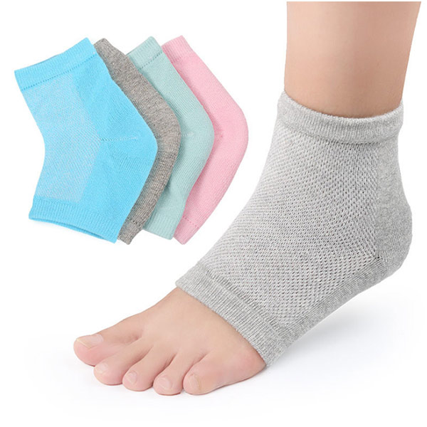 Amazon Hot Foot Care Whitening Moisture Crack Silicone Gel Heel cushion socks ZG-S11